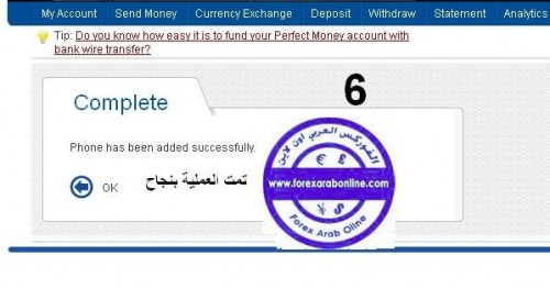 تامين حساب perfect money