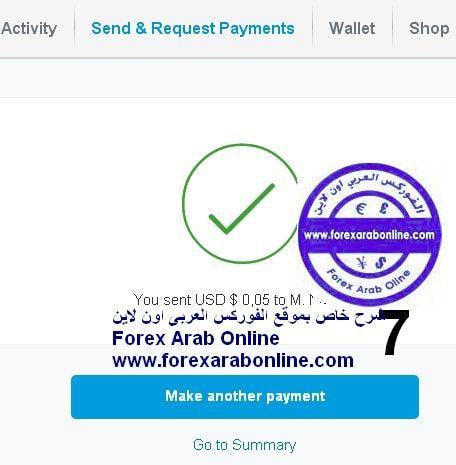 ارسال الاموال فى paypal